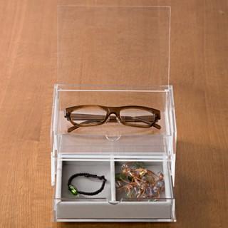 【MUJI 無印良品】可堆疊壓克力附蓋抽屜盒/2層