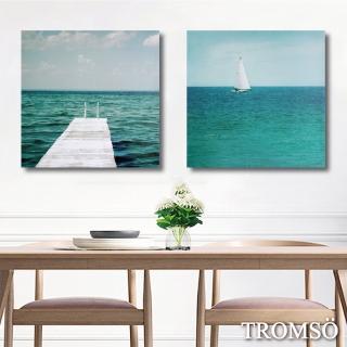 【TROMSO】時尚無框畫/寧靜海洋(二幅一組無框畫40X40CM)