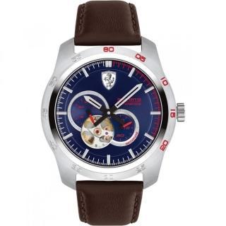 【Ferrari 法拉利】法拉利競速快感鏤空機械錶-黑/44mm(0830443)