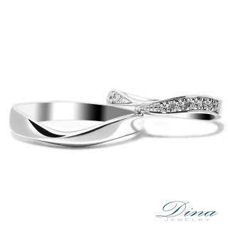 【DINA 蒂娜珠寶】『會心微笑』 鑽石情侶結婚對戒(對戒 系列)