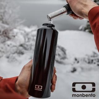 【MONBENTO】不鏽鋼保溫水壺-黑(MB-401101002)