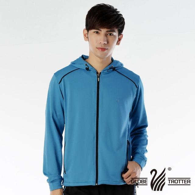 【遊遍天下】MIT台灣製男版連帽抗UV透氣吸濕排汗機能外套112-1寶藍(L-XL)/