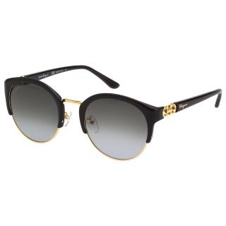 【Salvatore Ferragamo】太陽眼鏡 SF902SK(金色+黑色)