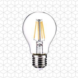 【順合光電】全電壓 A60 4W E27 LED復古鎢絲燈泡(黃光-2入)