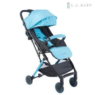 【L.A. Baby】城市輕旅嬰兒手推車(晴空藍 珊瑚紅 奶油卡其)