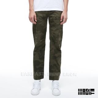 【EAR EAST】男款 口袋迷彩工作長褲(綠)