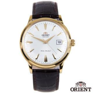 【ORIENT 東方錶】成熟內斂自動上鍊機械腕錶-白x40.5mm(FAC00003W0)