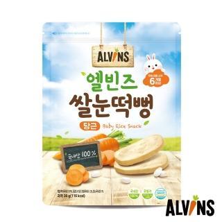 【韓國ALVINS愛彬思】寶寶大米餅30g(胡蘿蔔風味)