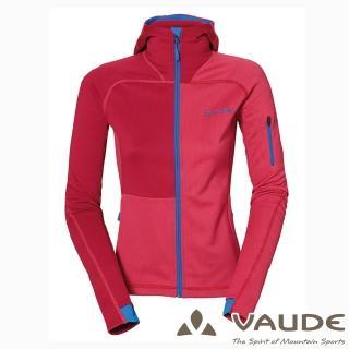 【VAUDE德國原廠】女款連帽彈性保暖刷毛外套(VA-05705紅15A/登山/旅遊/都會/休閒)