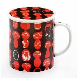 【Royal Duke】日本製趣味馬克杯-愛子復古紅(300ml附杯蓋)