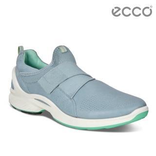 【ecco】BIOM FJUEL 簡約魔鬼氈休閒運動鞋(藍 83756350596)