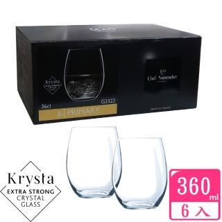 【法國C&S】PRIMARY玻璃水晶威士忌杯360cc(六入組)