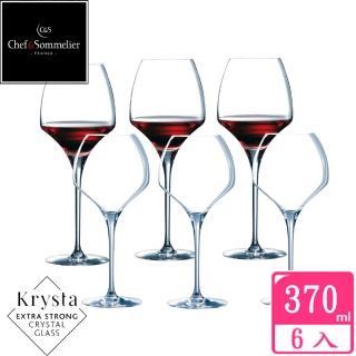 【法國C&S】OPEN UP玻璃水晶紅酒杯370cc(六入組)