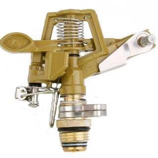 【灑水達人】1/2吋鋅合金外牙可調整360度旋轉金屬噴灑頭2入(鋅合金)
