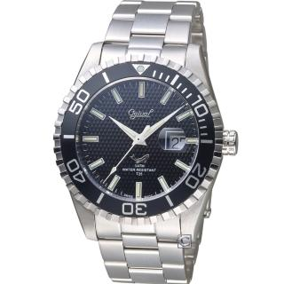 【Ogival 愛其華】夜鷹氚氣燈管潛水型腕錶(3985TGS)