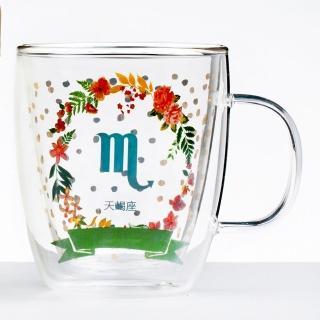 【Royal Duke】雙層玻璃咖啡杯/馬克杯/花茶杯-天蠍座(星座杯-380ml)