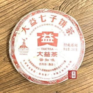 【茶韻普洱茶事業】2010年孟海/大益茶廠普知味001熟茶357g茶葉保證真品(附茶樣15g.收藏盒.茶針x1)