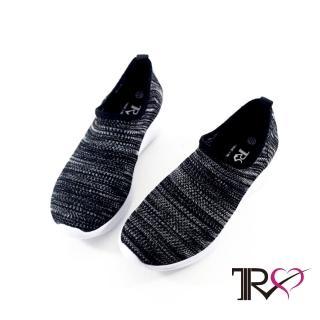 【TRS】韓國TRS-懶人鞋-襪套鞋-舒適 輕盈 襪套 懶人 運動休閒鞋-黑白(7100-0060)