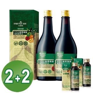 【大漢酵素】V52蔬果植物醱酵液買二送二超值組(600mlx2+60mlx2)