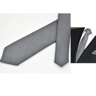 【拉福】領帶領帶棉質領帶灰6cm領帶拉鍊領帶(兒童)