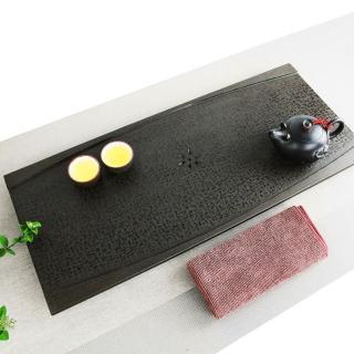 【生活禪】玄武岩石雕茶盤-禪風無限 B21-001-1(58x25x2.5cm)