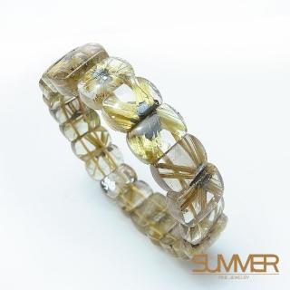 【SUMMER寶石】A級-天然鈦晶手排 40g以上(隨機出貨)