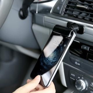 3D Air 阿基米德重力槓桿固定可旋轉黏貼車用/手機支架(黑色)