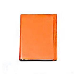 【Jadeco】平紋皮革筆記本A6 空白-橘