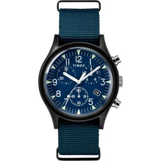 【TIMEX】天美時 MK1 潮流軍錶 三眼計時手錶(藍 TXTW2R67600)