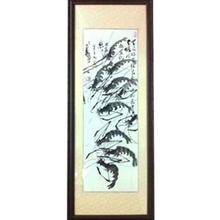 馬壽三大師-水墨戲蝦限量典藏畫作長幅