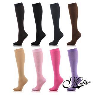 【Melissa 魅莉莎】醫療級時尚彈性小腿襪(6色任選)