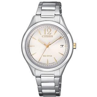 【CITIZEN 星辰】LADYS簡約優雅光動能腕錶(FE6124-85A)