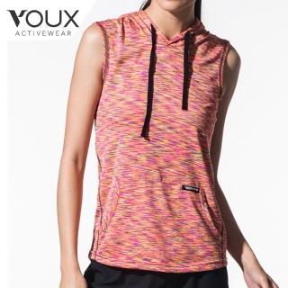【VOUX】女速乾吸濕排汗連帽背心(桔/粉/藍S-L)