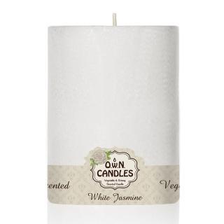 【O.W.N.對環境友善的蠟燭】白雪柱狀蠟燭 White Jasmine 白茉莉(香氛.精油.蠟燭)
