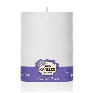 【O.W.N.對環境友善的蠟燭】白雪柱狀蠟燭 Lavender Fields 薰衣草田(香氛.精油.蠟燭)
