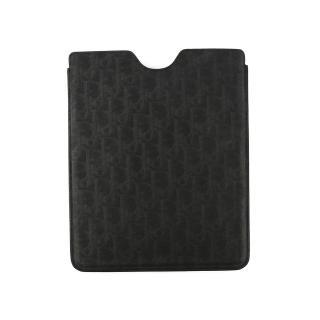 【Christian Dior】防刮牛皮素面LOGO款IPAD套(黑色)
