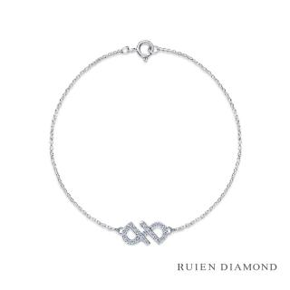 【RUIEN DIAMOND 瑞恩鑽石】輕珠寶系列 15分鑽石手鍊(14K白金 初心)