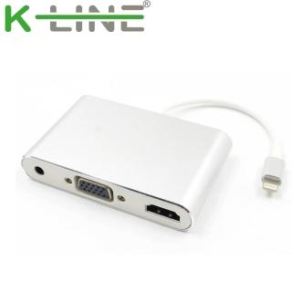 k-Line Apple影音傳輸線 iPhone/iPad to HDMI VGA MHL(銀)