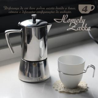 【Homely Zakka】極簡主義304不鏽鋼咖啡壼/摩卡壼(4杯)