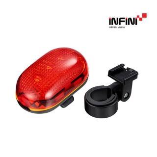 【INFINI】5顆LED紅光尾燈 I-401R(單車燈、LED自行車燈、車尾燈、腳踏車燈)