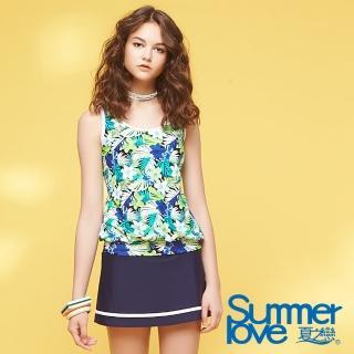 【Summer Love 夏之戀】加大碼南洋風格三件式泳衣(S18720)