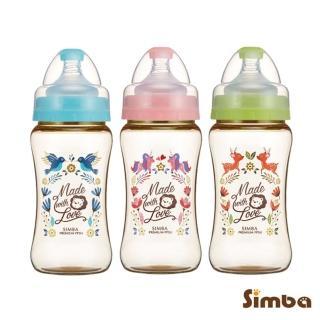 【Simba 小獅王辛巴】桃樂絲PPSU寬口雙凹中奶瓶270ml(丘比特/圓舞曲/獨角獸)