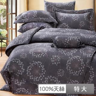 【貝兒居家寢飾生活館】100%天絲四件式兩用被床包組 帕洛瑪(特大)