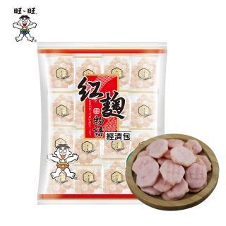 【旺旺食品】紅麴物語經濟包(養生米果米餅 人氣辦公室休閒零食海鹽 全素非油炸小包裝)