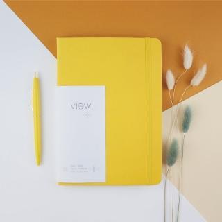 【綠的事務用品】眼色View-25K精裝方格筆記本-黃