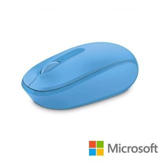 【Microsoft 微軟】無線行動滑鼠 1850(活力藍 盒裝)