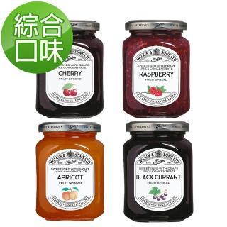 【Tiptree】無蔗糖果醬綜合4入組(黑醋栗X1+杏桃X1+櫻桃X1+覆盆子X1)