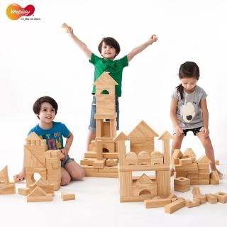【Weplay】軟質木紋積木 - 152件(STEAM玩具)