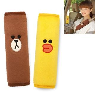 【LINE FRIENDS】FACE 安全帶護套組-熊大&莎莉(2入/台灣製)