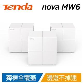 【Tenda 騰達】nova MW6 Mesh 無線網狀路由器 WiFi魔方 3入組(任一顆皆為主機 Gigabit 適用130-200坪)